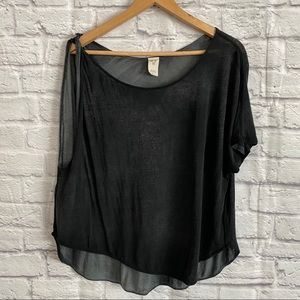 WE THE FREE (FREE PEOPLE) Gray Black Top